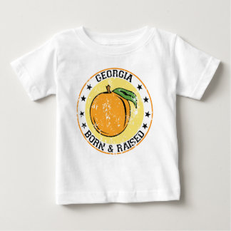 Georgia born and raised with Peach T-shirt