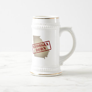Georgia Born - Stamp on Map Beer Stein