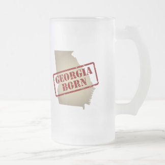 Georgia Born - Stamp on Map Frosted Glass Beer Mug