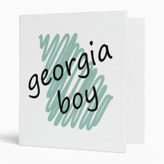 Georgia Boy on Child's Georgia Map Drawing Binder