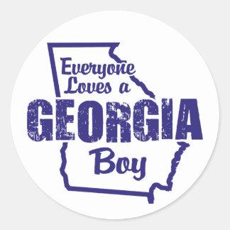 Georgia Boy Stickers