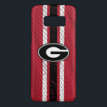 """Georgia Bulldogs Logo   Jersey Case-Mate Samsung Galaxy S8 Case<br><div class=""""desc"""">Show off your Georgia spirit with these Bulldog OtterBox phone cases! This design is officially licensed artwork from the University of Georgia.</div>"""