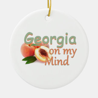 GEORGIA CERAMIC ORNAMENT