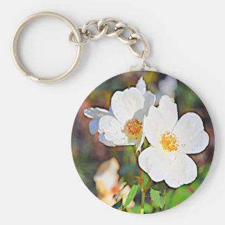 Georgia Cherokee Rose Basic Round Button Keychain