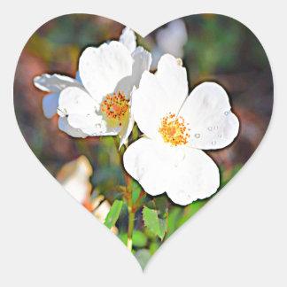 Georgia Cherokee Rose Heart Sticker