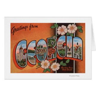 Georgia (Cherokee Rose) - Large Letter Scenes Greeting Cards