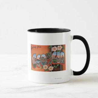 Georgia (Cherokee Rose) - Large Letter Scenes Mug