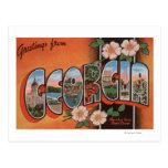 Georgia (Cherokee Rose) - Large Letter Scenes Postcards