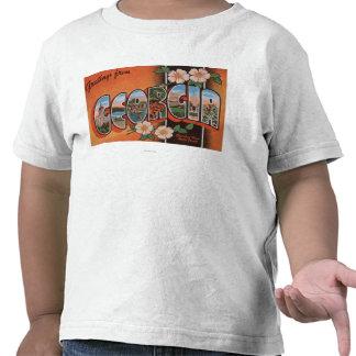 Georgia (Cherokee Rose) - Large Letter Scenes Shirt