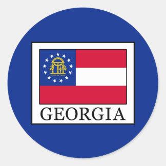 Georgia Classic Round Sticker
