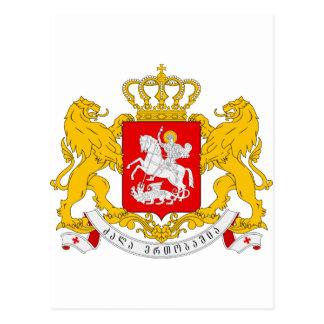 Georgia Coat of arms GE Postcard