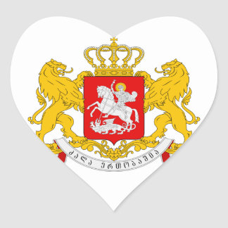 Georgia Coat of arms GE Heart Sticker