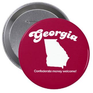 Georgia - Confederate money accepted T-shirt Pins