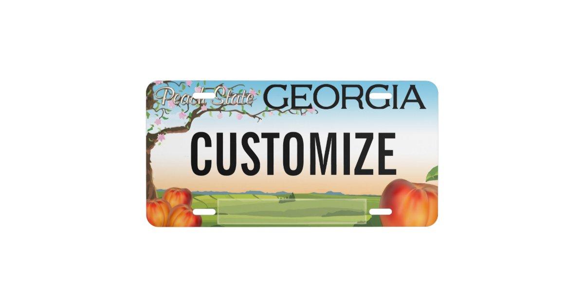 Georgia Custom License Plate Zazzle Com