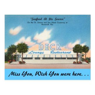 Georgia, Deck Lounge, Brunswick Postcard