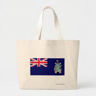 Georgia del sur y la bandera de las islas de bocad bolsa tela grande