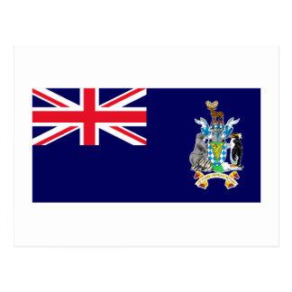 Georgia del sur y la bandera de las islas de bocad tarjetas postales