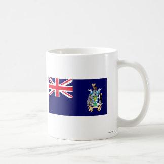 Georgia del sur y la bandera de las islas de taza clásica