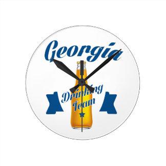 Georgia Drinking team Round Clock