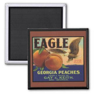 Georgia Eagle Peaches Refrigerator Magnet