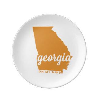 Georgia el | en mi mente el | anaranjado claro platos de cerámica