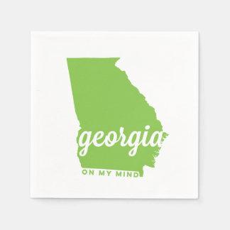 Georgia el | en mi mente el | verde servilleta de papel