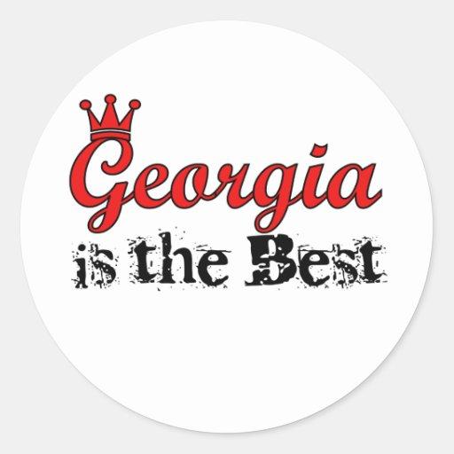 Georgia es los mejores pegatinas pegatina redonda