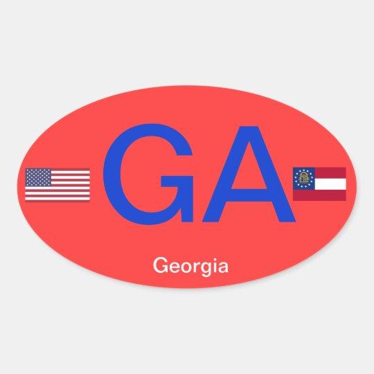 Georgia* Euro-style Bumper StickerSticker Oval Sticker