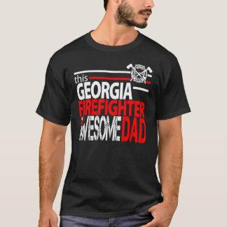 Georgia Firefighter Dad Shirt