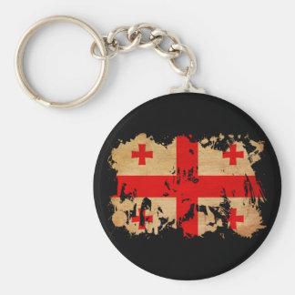 Georgia Flag Basic Round Button Keychain