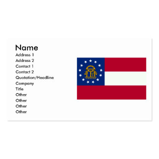 Georgia Flag Double-Sided Standard Business Cards (Pack Of 100)