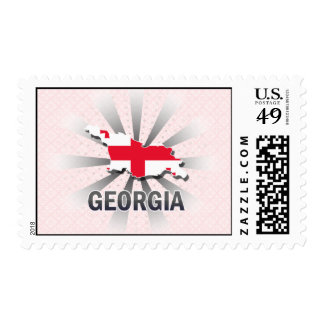Georgia Flag Map 2.0 Postage Stamps