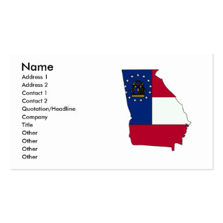 Georgia Flag Map Double-Sided Standard Business Cards (Pack Of 100)