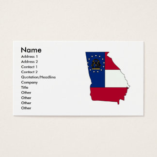 Georgia Flag Map Business Card