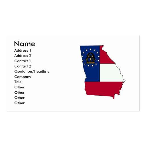 Georgia Flag Map Business Card Template