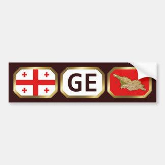 Georgia Flag Map Code Bumper Sticker Car Bumper Sticker