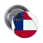 Georgia Flag Map Pin