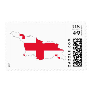 Georgia flag map stamps