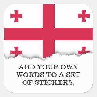 Georgia Flag Square Sticker