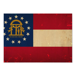 Georgia Flag VINTAGE.png 5x7 Paper Invitation Card
