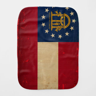 Georgia Flag VINTAGE.png Burp Cloth