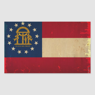 Georgia Flag VINTAGE.png Rectangular Sticker