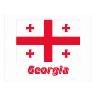 Georgia Flag with Name Postcard
