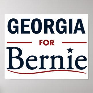 Georgia for Bernie Poster