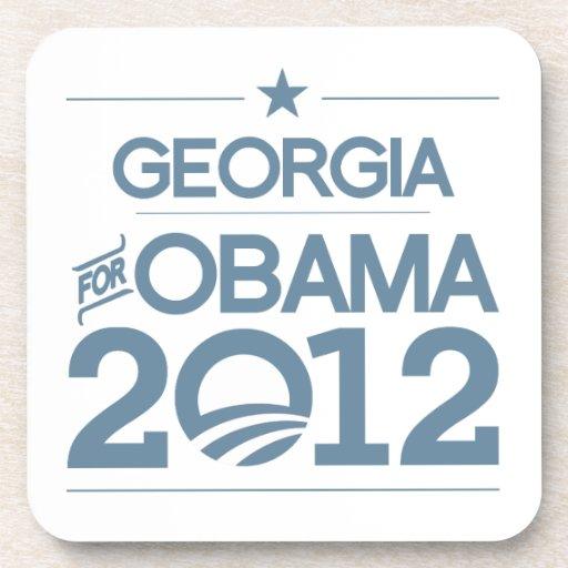 GEORGIA FOR OBAMA 2012.png Drink Coaster