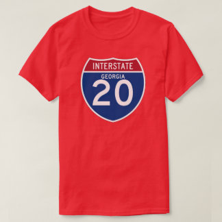 Georgia GA I-20 Interstate Highway Shield - T-Shirt