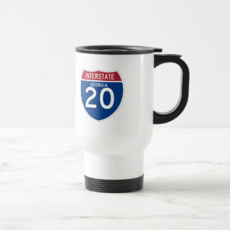 Georgia GA I-20 Interstate Highway Shield - Travel Mug