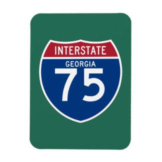 Georgia GA I-75 Interstate Highway Shield - Magnet