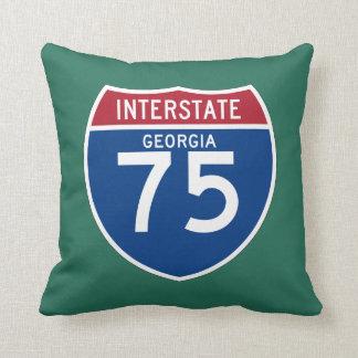 Georgia GA I-75 Interstate Highway Shield - Throw Pillow
