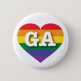 Georgia Gay Pride Rainbow Heart - Big Love Button